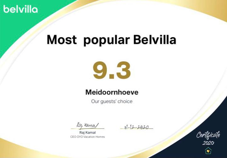 De Meidoornhoeve Belvilla Award 2020